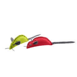 """Mouse Cat toy """"by Laura"""" 2 pack red and green by HUNTER"""