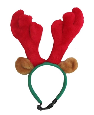 Holiday Antlers Headband Red