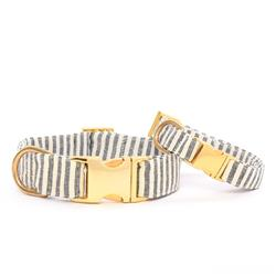 Charcoal Stripe Dog Collar