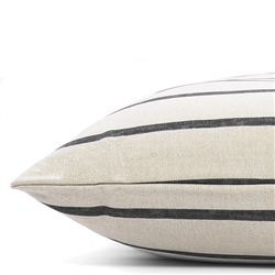 Modern Charcoal Stripe Dog Bed