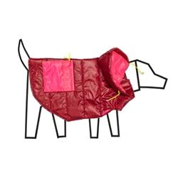 Burgandy/Pink Nylon Puffer Coat