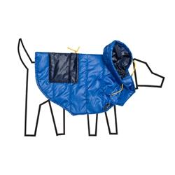 Royal/Navy Nylon Puffer Coat