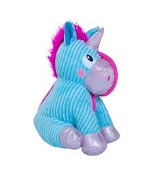 Unicorn Corded Seamz Holiday Plush Dog Toy