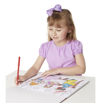 Magic-Pattern Marker Kids' Coloring Pad - Pets