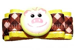 Baby Piggy Barrette by Ruff Ruff Couture®