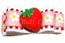 Sweet Strawberry Barrette by Ruff Ruff Couture®