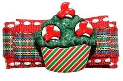 Christmas Cupcake Barrette by Ruff Ruff Couture®