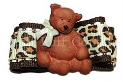 Lil' Teddy Leopard Barrette by Ruff Ruff Couture®