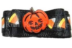 Jack-O's Candy Corn Barrette by Ruff Ruff Couture®