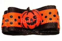 Jack-O's Polka Dots Barrette by Ruff Ruff Couture®