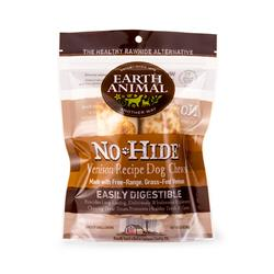 "Earth Animal No-Hide Venison Small (4"") Dog Chews, 2 Pack"