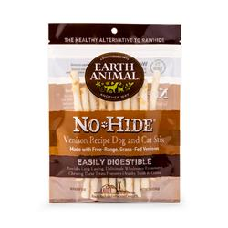 Earth Animal No Hide Venison Chews Dog Treats, 10 Pack Stix