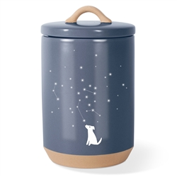 CELESTIAL DOG BEVELED TREAT JAR