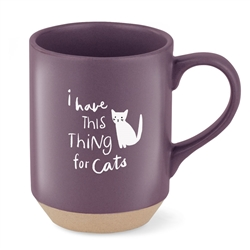 THING FOR CATS STONEWARE NY MUG