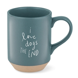 DOGS THE END STONEWARE NY MUG