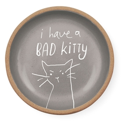 BAD KITTY MINI ROUND STONEWARE TRAY