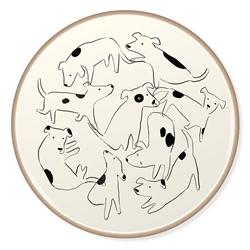 NOSEY DOG SPOT STONEWARE COASTER