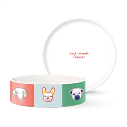 BFF DOGS MEDIUM CERAMIC BOWL