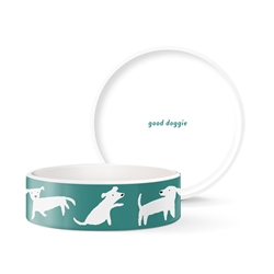 WHITE DOGS SMALL BOWL