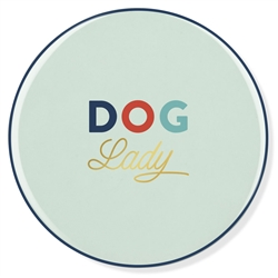 DOG LADY CERAMIC COASTER