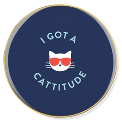 CATTITUDE CERAMIC COASTER