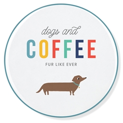 DOGS AND COFFEE CERAMIC COASTER