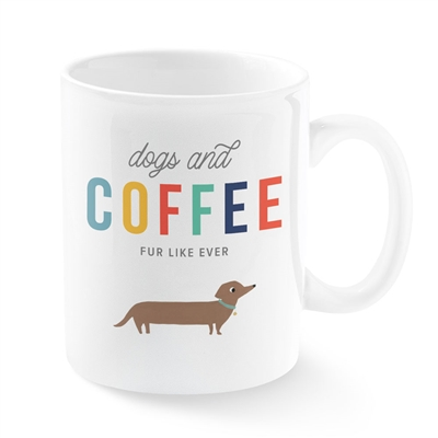 DOGS AND COFFEE MONTANA CERMAIC MUG
