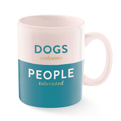 DOGS WELCOME MONTANA CERAMIC MUG