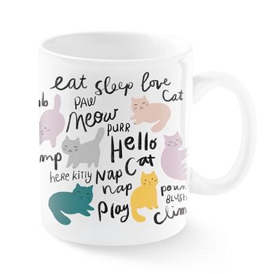 CHUBBY CAT BRSH MONTANA CERMAIC MUG
