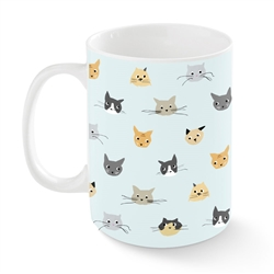 CAT HEADS KANSAS MUG