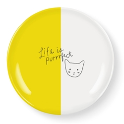 LIFE IF PURRFECT SMALL ROUND TRAY
