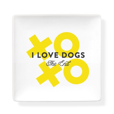 DOGS THE END SQUARE SLAB TRAY