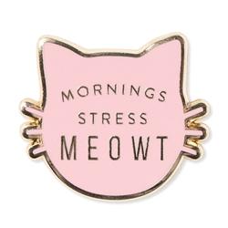 STRESS MEOWT ENAMEL PIN