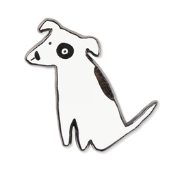 NOSEY DOG SPOT ENAMEL PIN