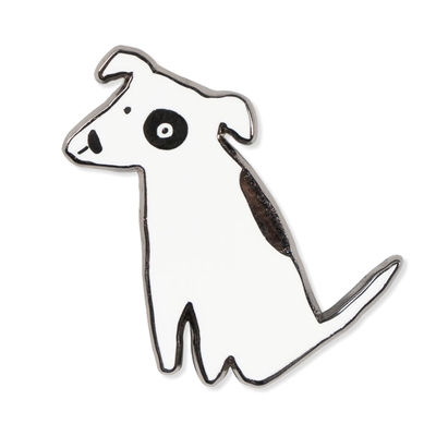 NOSEY DOG SPOT ENAMEL PIN