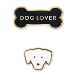DOG LOVER ENAMEL PIN