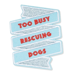 RESCUING DOGS SMALL PATCH