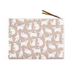 MISS KITTY LARGE CANVAS POUCH