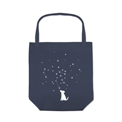 CELESTIAL DOG CANVAS TOTE
