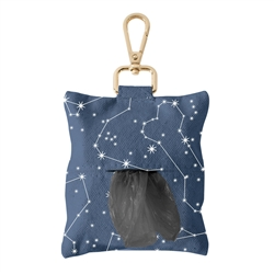 CELESTIAL CANVAS WASTE BAG KEYCHAIN