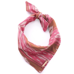 Pink and Chocolate Ikat Limited Edition Dog Bandana