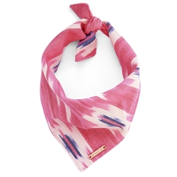 Pink and Blue Ikat Limited Edition Dog Bandana