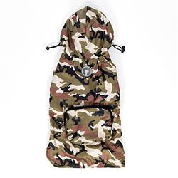 Green Camouflage Packable Raincoat