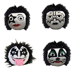 Official KISS faball Squeaky Toy (4 Pack)