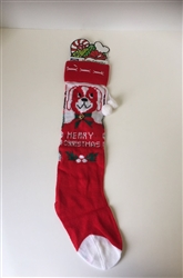 "22"" KNITTED DOG STOCKING W/2 BELLS"