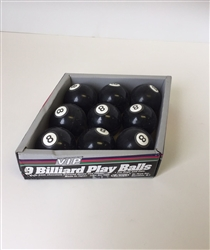 V.I.P. RUBBER BILLIARD BALLS DOG TOY 9 PCS./DISPLAY BOX