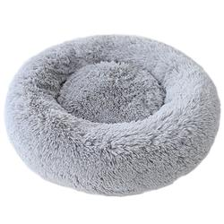 Cuddle Shag Dog Bed: Silver