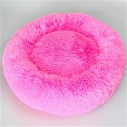 Cuddle Shag Dog Bed: Fuchsia
