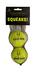 Hyper Pet™ SQUEAKS! Tennis Balls W/ SQUEAKERS! (2 PACK OR 4 PACK)