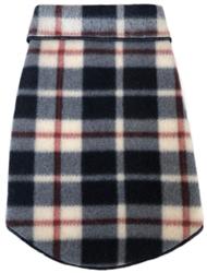 Navy Red Plaid - Fleece Pullover
